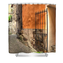 Old Colorful Rustic Alley Shower Curtain