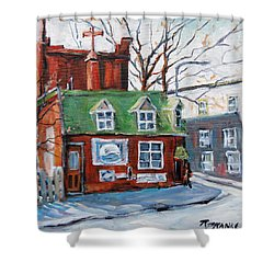 Old Corner Store Montreal By Prankearts Shower Curtain by Richard T Pranke