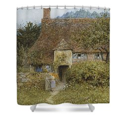 Old Cottage Witley Shower Curtain by Helen Allingham