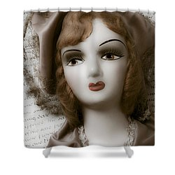 Old Doll On Old Letter Shower Curtain by Garry Gay