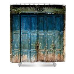 old door in China town Shower Curtain by Setsiri Silapasuwanchai