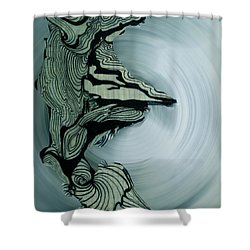 Old Drawing Called Serenity 2   Shower Curtain by Colette V Hera  Guggenheim