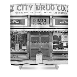 Old Drug Store Circa 1930 Shower Curtain