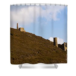 Old Engine House Shower Curtain by Brian Roscorla