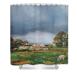 Old Farm - Monyash - Derbyshire Shower Curtain by Trevor Neal