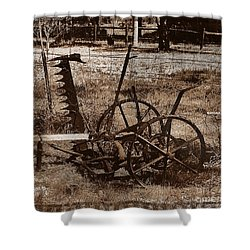 Shower Curtain featuring the photograph Old Farm Equipment by Blair Stuart