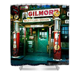Old Fashioned Filling Station Shower Curtain