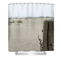 Old Fence Pole Shower Curtain