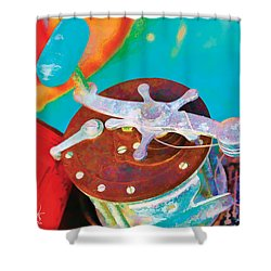 Old Fish Story Shower Curtain