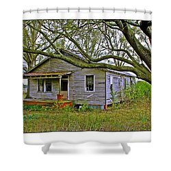 Shower Curtain featuring the photograph Old Gray House by Judi Bagwell