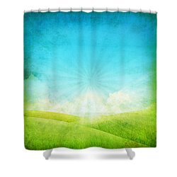 Old Grunge Paper Shower Curtain by Setsiri Silapasuwanchai