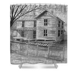 Old Homeplace Shower Curtain by Julie Brugh Riffey
