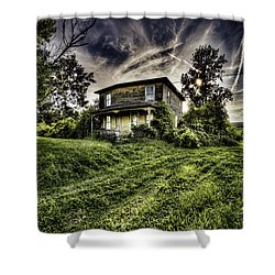 Old House Shower Curtain by Nick  Shirghio