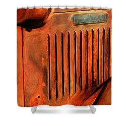 Old International Shower Curtain by Jack Zulli