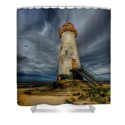 Old Lighthouse Shower Curtain by Adrian Evans