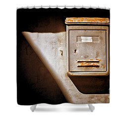 Old Mailbox With Doorbell Shower Curtain by Silvia Ganora