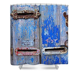 Old Mailboxes Shower Curtain by Carlos Caetano