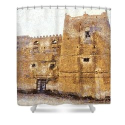 Old Mansion In Mirbat Shower Curtain