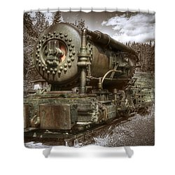 Old Mine Train Banff Shower Curtain
