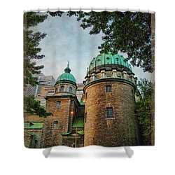 Old Montreal Church Shower Curtain by Joan  Minchak
