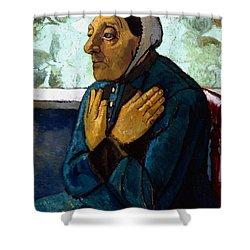 Old Peasant Woman Shower Curtain by Paula Modersohn-Becker