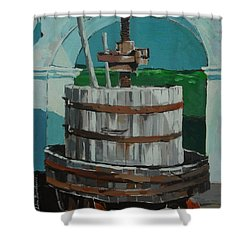 Old Press Shower Curtain