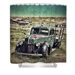 Old Rusty Truck Shower Curtain by Jill Battaglia