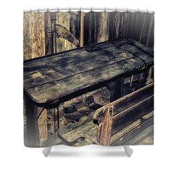 Old School Desk Shower Curtain by Jutta Maria Pusl