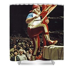 Old School Wrestling From The Cow Palace With Moondog Mayne Shower Curtain