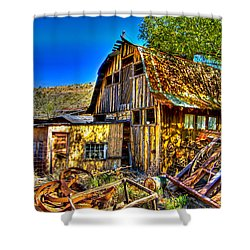 Old Shed Shower Curtain by Jon Berghoff