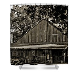 Old Spanish Sugar Mill Old Photo Shower Curtain by DigiArt Diaries by Vicky B Fuller