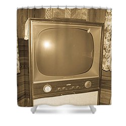Old Television Shower Curtain by Shannon Harrington