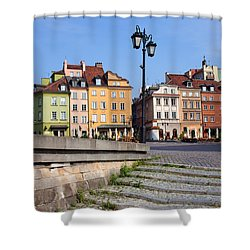 Old Town In Warsaw Shower Curtain by Artur Bogacki