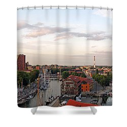 Old Town Klaipeda. Lithuania. Shower Curtain by Ausra Huntington nee Paulauskaite