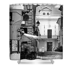 Shower Curtain featuring the photograph Old Town by Pedro Cardona