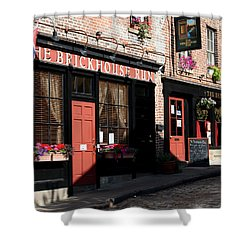 Old Towne Dining Shower Curtain by Karen Harrison
