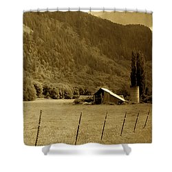 Old Valley Farm Shower Curtain by Michelle Joseph-Long