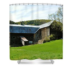Shower Curtain featuring the photograph Old Vermont Barn by Sherman Perry
