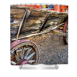 Old Wagon Shower Curtain by Jon Berghoff