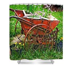 Old Wheelbarrow Shower Curtain
