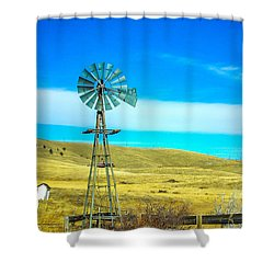 Shower Curtain featuring the photograph Old Windmill by Shannon Harrington