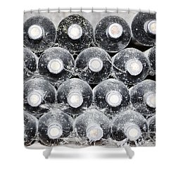 Old Wine Bottles Shower Curtain