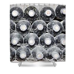 Old Wine Bottles Shower Curtain