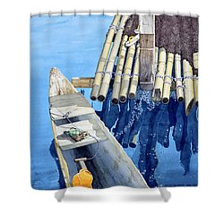 Old Wood Boat Shower Curtain