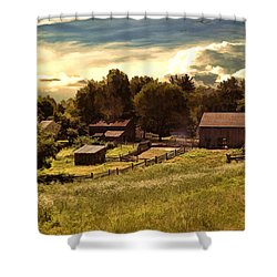 Olden Times Shower Curtain by Lourry Legarde