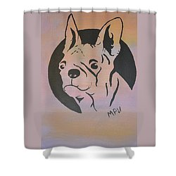 Shower Curtain featuring the painting Ole Fella by Maria Urso