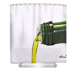 Olive Oil Shower Curtain by Kayleigh Semeniuk