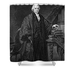 Olvier Ellsworth (1745-1807). Chief Justice Of The United States Supreme Court, 1796-1799. Steel Engraving, 1863 Shower Curtain by Granger