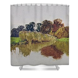 On The Arun Stoke Sussex  Shower Curtain by George Vicat Cole