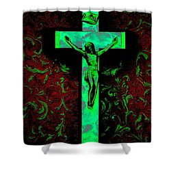Shower Curtain featuring the photograph On The Cross by David Pantuso